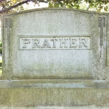 Prather family gravestone